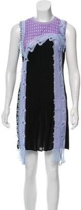 Versace Silk & Guipure Lace Dress