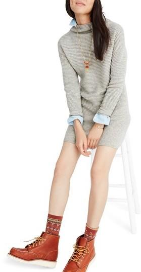 Women's Madewell Skyscraper Merino Wool Sweater Dress