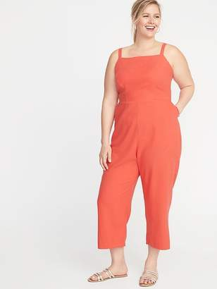 Old Navy Linen-Blend Cami Plus-Size Jumpsuit