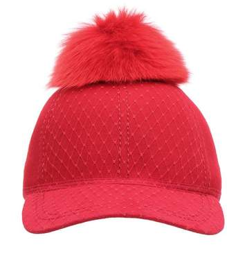 Lafayette House Of House Of Wool Cap With Fur Pom Pom
