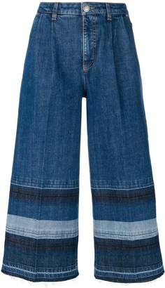 Sonia Rykiel washed striped denim trousers