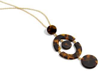 J.Crew Tortoise Orbit Pendant Necklace