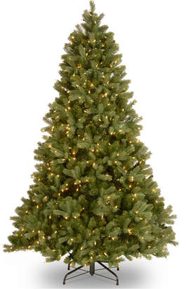 National Tree Company 7.5' Feel Real Downswept Douglas Fir Hinged Tree With 750 Dual Color Led Lights & PowerConnect