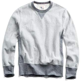 Todd Snyder + Champion Reverse Weave Sweatshirt in Light Grey Mix