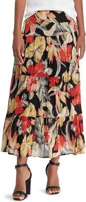 Chaps Women's Tiered A-Line Maxi Skirt