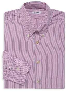 Kiton Striped Long-Sleeve Dress Shirt