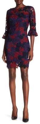 Alexia Admor Ruffle Half Sleeve Lace Dress