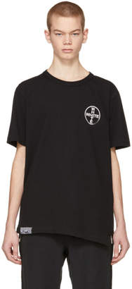 Off-White Black and White Cross Spliced T-Shirt