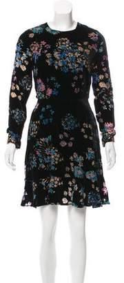 Rebecca Minkoff Velvet Floral Dress