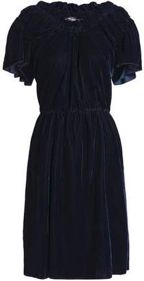 Antik Batik Gathered Velvet Dress