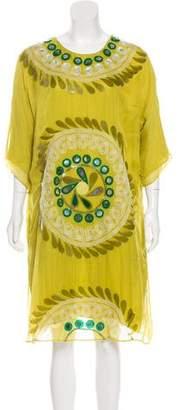 Chloé Silk Embellished Dress