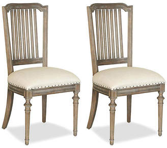 One Kings Lane Linen Side Chair - Set of 2