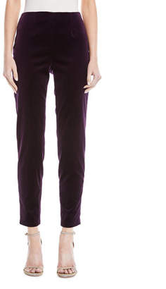 Escada Timas Velvet Ankle Pants