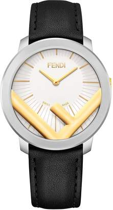 Fendi Run Away Leather Strap Watch, 41mm