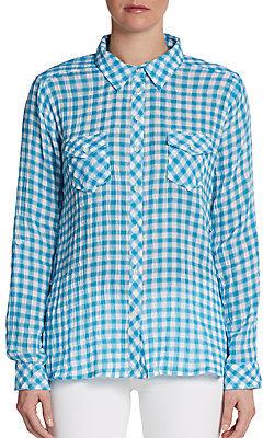 C&C California Crinkle Gingham-Print Shirt