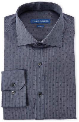 Vince Camuto Navy Stripe Slim Fit Dress Shirt