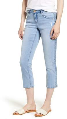 Wit & Wisdom Embroidered Side Seam Crop Jeans