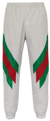 Gucci Side Stripe Track Pants - Mens - Grey Multi