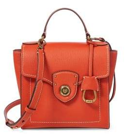 Lauren Ralph Lauren Leather Crossbody Satchel