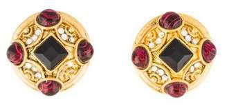 Jose & Maria Barrera Crystal Clip-On Earrings