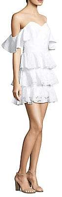 Caroline Constas Women's Off-The-Shoulder Ruffle Dress