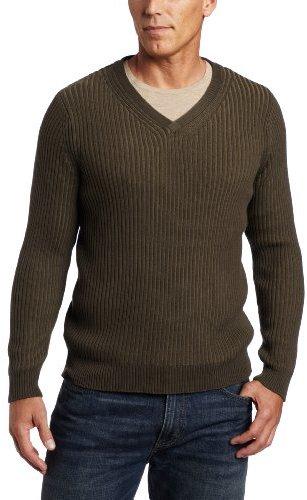 Alex Stevens Men's Ribbed V-neck Sweater