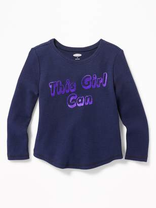 Old Navy Printed Thermal-Knit Tee for Toddler Girls