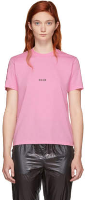 MSGM Pink Mini Logo T-Shirt