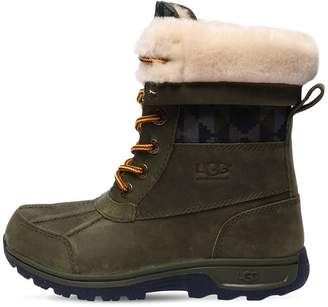 UGG Waterproof Leather & Shearling Snow Boot