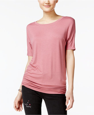 Planet Gold Juniors' Ruched Dolman-Sleeve T-Shirt $16 thestylecure.com