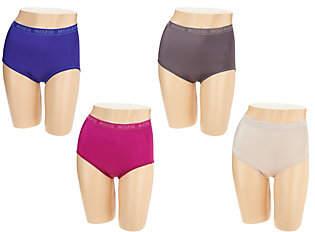 Breezies Set of 4 Nylon Microfiber Brief Panty