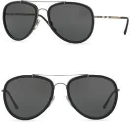 Burberry 58MM Pilot Sunglasses