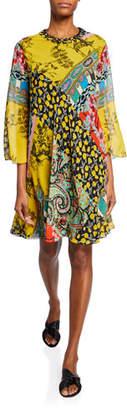 Etro Paisley Collage Tent Dress