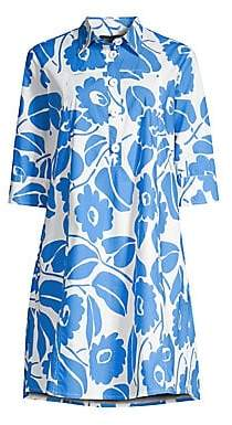 Piazza Sempione Women's Floral Cotton Shirtdress