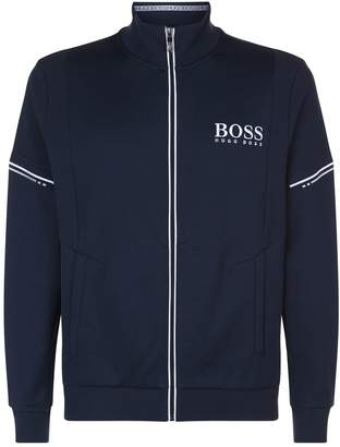 HUGO BOSS Zip-Up Funnel Neck Sweatshirt