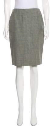 Alexander McQueen Wool Pencil Skirt