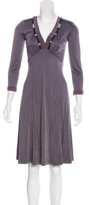 Pollini Embellished Knee-Length Dress w/ Tags