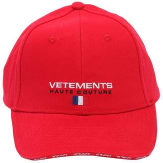 Vetements Embroidered Haute Couture Canvas Hat