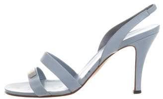 Chanel Logo Slingback Sandals