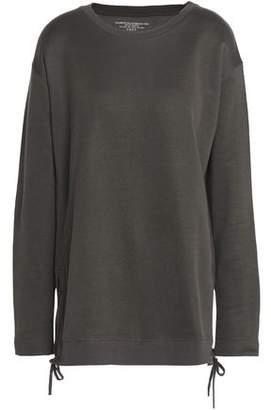 Majestic Filatures Lace-Up Cotton-Blend Sweatshirt
