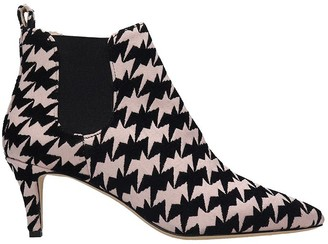 Bams Low Heels Ankle Boots In Rose-pink Fabric