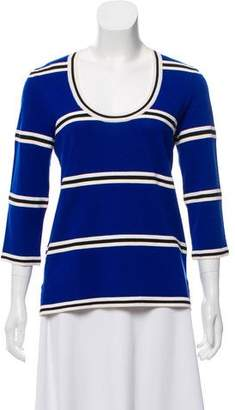St. John Striped Wool Sweater