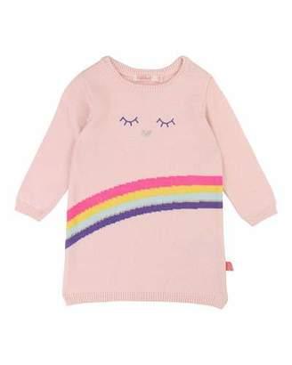 Billieblush Rainbow Intarsia Sweater Dress, Size 12M-3