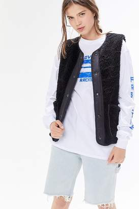 Urban Outfitters Sherpa Snap Button-Front Gilet Vest