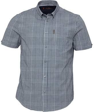Ben Sherman Short Sleeve Multi Gingham Shirt Dark Navy