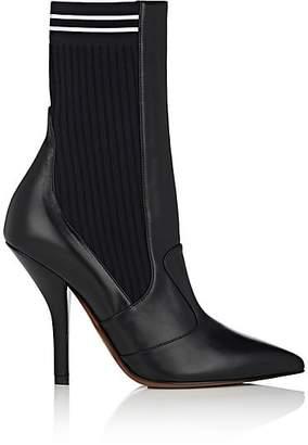 Fendi Women's Rockoko Leather Ankle Boots - Black
