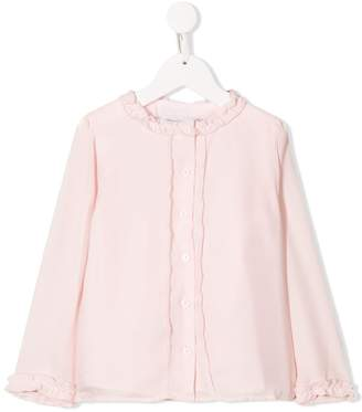 Patachou frill trim button blouse