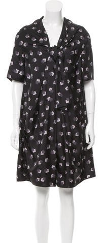 Marc Jacobs Marc Jacobs Silk Square Print Dress