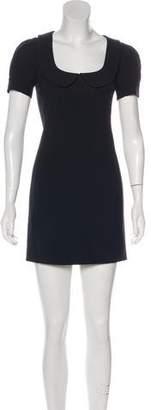 RED Valentino Scalloped Collar Mini Dress