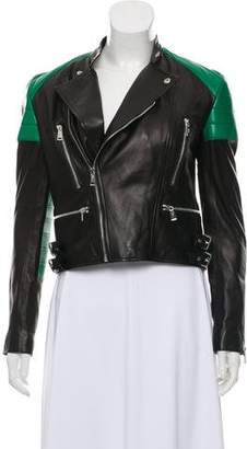Ralph Lauren Black Label Buckle-Accented Leather Jacket